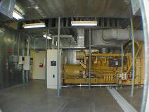 2000 kW sound attenuated Caterpillar engine generator system- designed, built, and installed by North American Power & Controls, Inc.